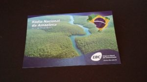 QSL card from Rádio Nacional da Amazônia
